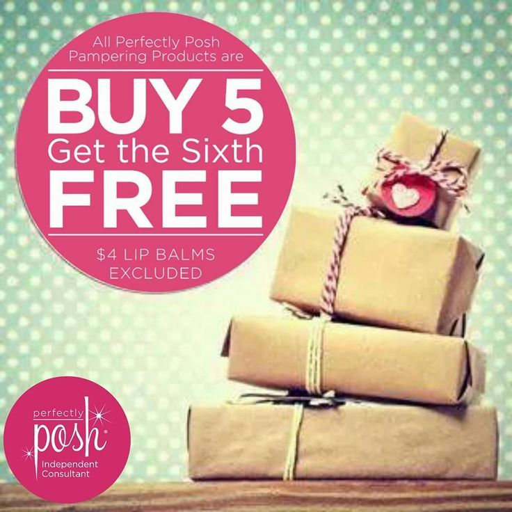 In need of stocking stuffer ideas?  When you order Perfectly Posh you can buy 5 and get the 6th one free!  www.perfectlyposh.com/jenlindeposh