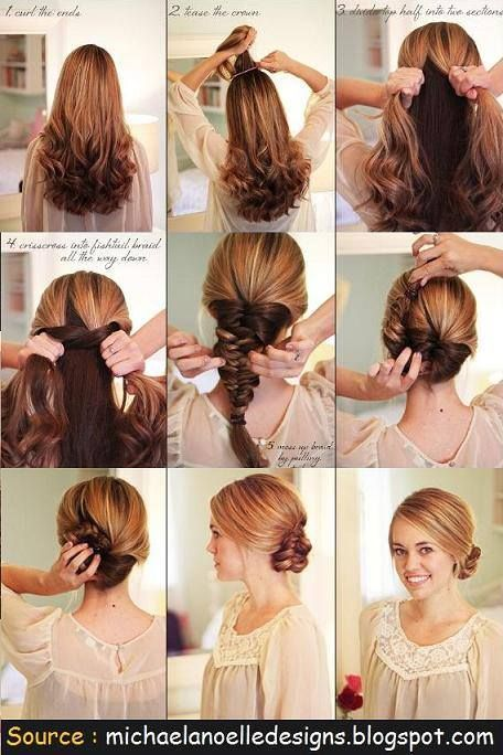 Step By Step: Fishtail Braid Up-Do | beauty | Pinterest ...