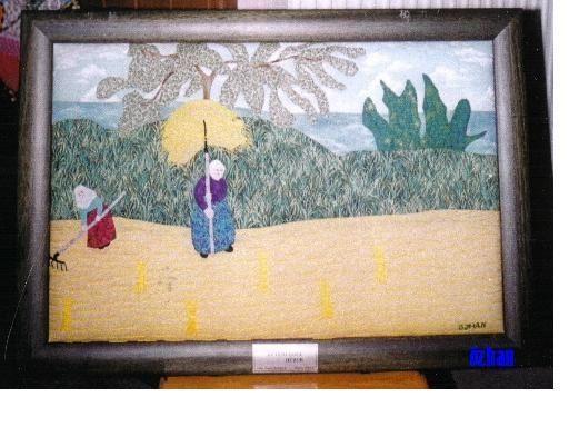 Düzce Efteni Gölünde Hasat adlı tablom.