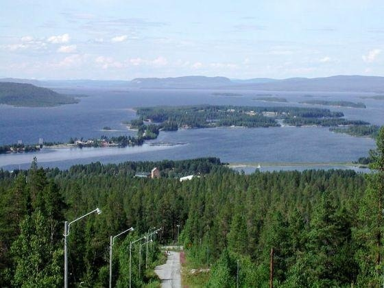 I love this view over Storuman, Sweden