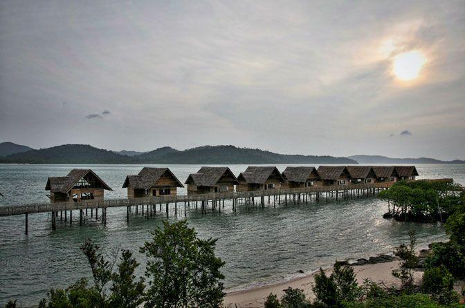 Telunas private island, just off coast Singapore
