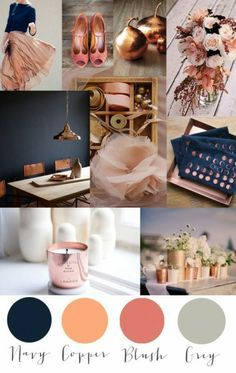 copper and blush palettes - Google Search