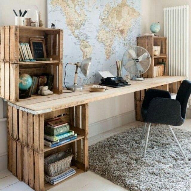 25 beste idee n over zelfgemaakte bureau op pinterest zelfgemaakte slaapkamer boekenkast ForHome Office Ideeen