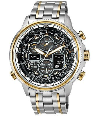17 best images about watches martian watch jewelry citizen men s eco drive navihawk a t two tone stainless steel bracelet watch watches jewelry watches macy s