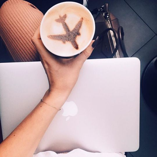 All I need is my mac, some coffee, and somewhere to travel to (and a stack of good books and my kiddo as my travel buddy)