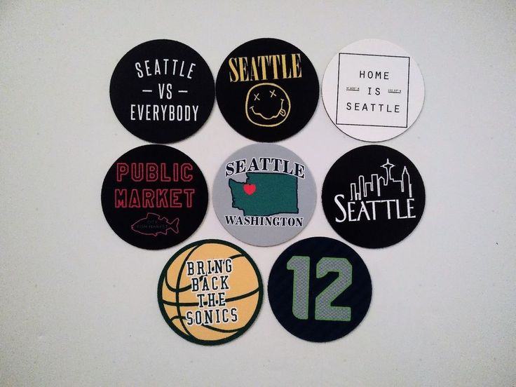 Seattle Magnets - City of Seattle Washington - City Pride Magnets - 8 Designs #seattle
