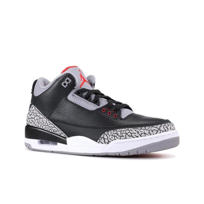 Air Jordan 3 Retro Og Black Cement 2018 La La Shoeland In 2020 Air Jordans Black Cement Black Cement 3