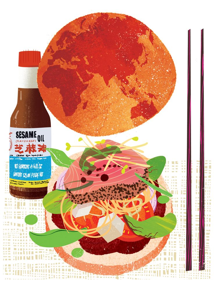 Fusion cuisine. Worldwide influences #fusion#cuisine#food#asian