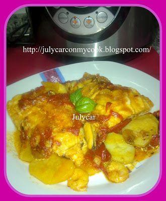 Receta Bacalao con pimientos de piquillo y salsa de tomate olla GM D para Cocinando con ollas programables Cocimix de Luxe - GM D - Horno Turbo Conveccion