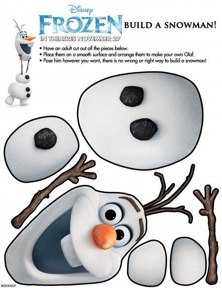 Olaf de Frozen para armar