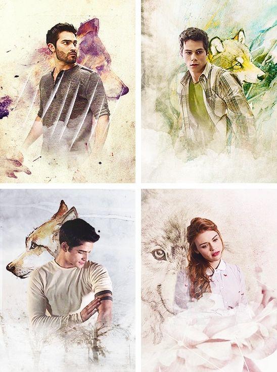 Derek, Stiles, Scott, & Lydia