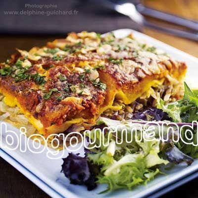 Lasagnes végétariennes sans gluten et sans lait au potimarron