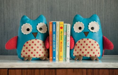 Cute owl bookends