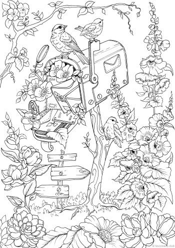 You've Got Mail | Bird coloring pages, Shape coloring ...