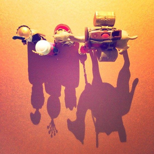 merry christmas 2014 : 3 kings #shadow #light #playmobil #christmas