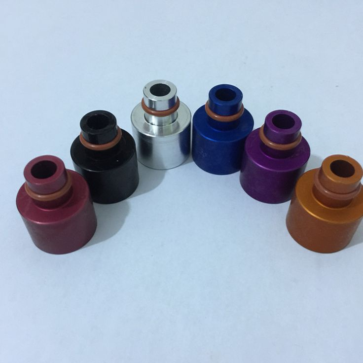 universal 14mm fuel injector extender to 10 mm fuel rail TOP HAT EXTENDER,Fuel Injector 10 mm viton O-ring - ANODIZED colored