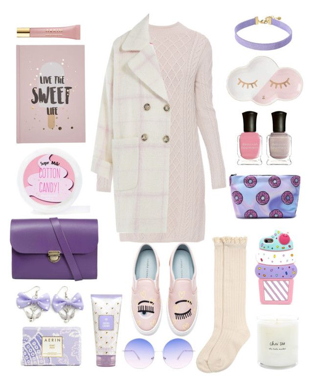"""Wata cukrowa"" by elshakalaka on Polyvore featuring Monsoon, 'S MaxMara, Juicy Couture, Sugar Milk Co, Deborah Lippmann, Chiara Ferragni, Vanessa Mooney, N'Damus, Estée Lauder and AERIN"