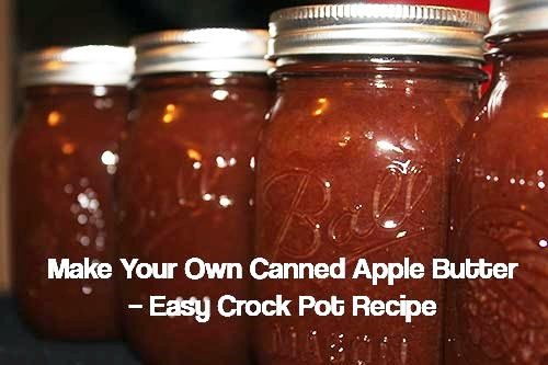Make Your Own Canned Apple Butter: Easy Crock Pot Recipe - How to make my very delicious apple butter which will be completely homemade and without any added preservatives!