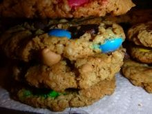 These gluten free Monster Cookies are as easy to make as they are delicious.