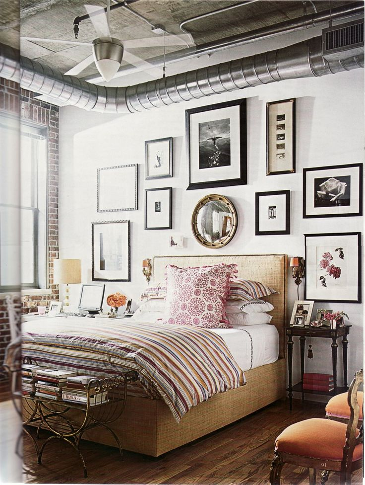 Kim Zimmerman's photography collection personalizes her Atlanta loft.: Decor, Interior, Dream, Bedrooms, House, Gallery Wall, Space, Art Wall, Bedroom Ideas