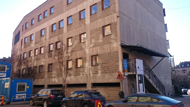 This brutal building in the district of Östermalm in Stockholm, Sweden, was up until last year the university for architecture. Now it's rebranded. The new n...
