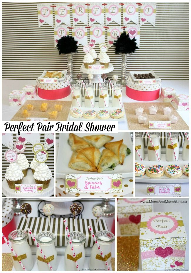 Perfect Pair Bridal Shower - a fun bridal shower theme with printable party supplies.