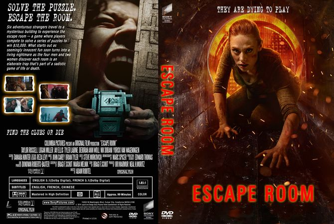 Escape Room 2019 Dvd Custom Cover Dvd Cover Design Custom Dvd Escape Game