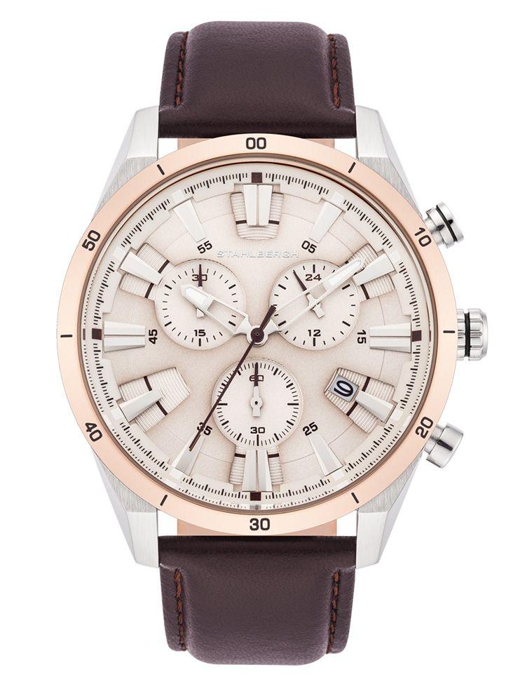 Stahlbergh pánské analogové hodinky 10060080, hnědé,  4449 Kč