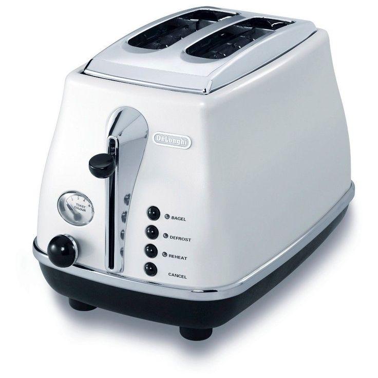 Delonghi 2- Slice Toaster - White
