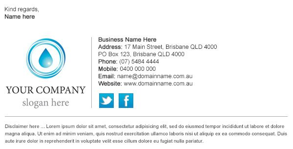 how to create an e business card in outlook