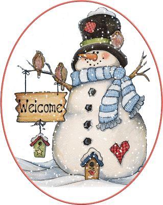 SNOWMAN WELCOME GIF