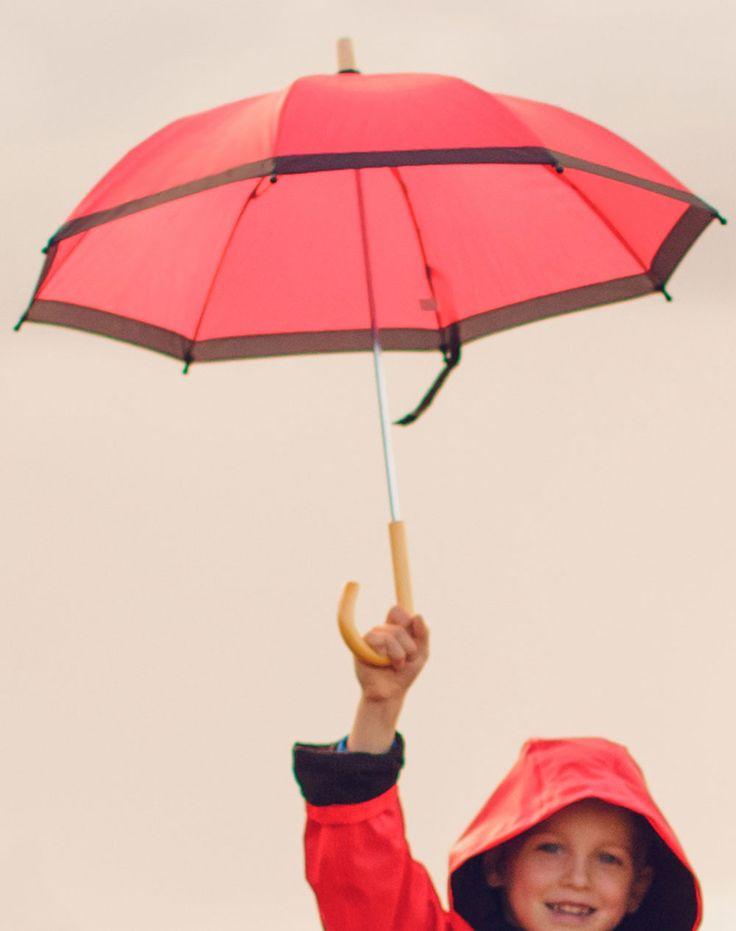 Children's Umbrella, Red & Black | Oakiwear - Rain Gear, Kids rain suits, kids waders, kids rain gear, and kids rain coats