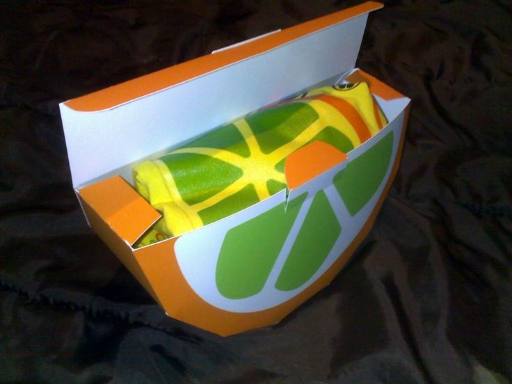 lemon, shirt inside package