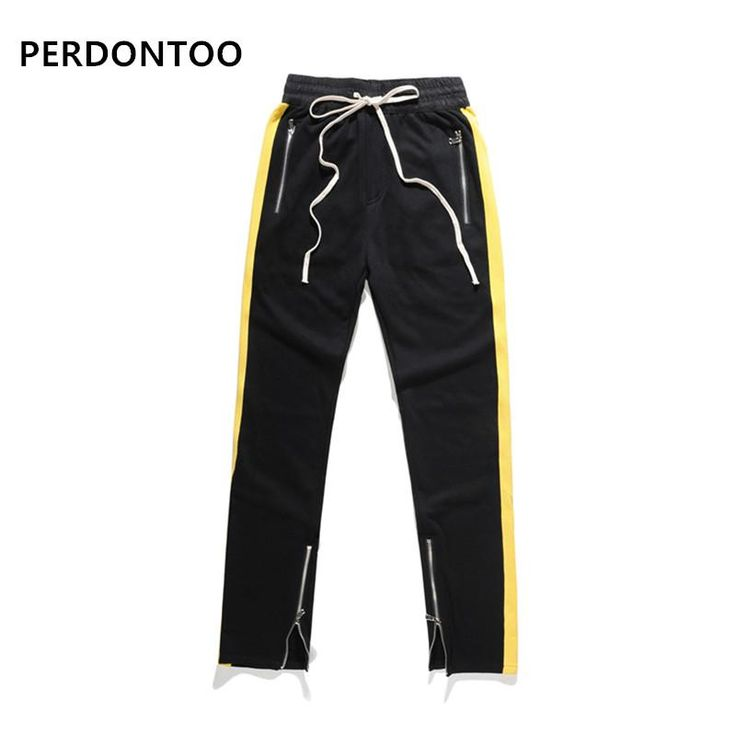 2017 new fashion 2 colors elastic waist mens and womens track pants ankle zip tapered sweatpants for men zipper pocket trouser