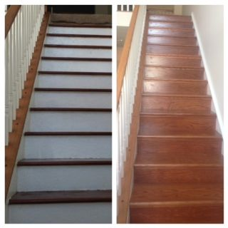 Nustair Step System Installed By Five Star Handyman. Before And After Shot.  Looks Much