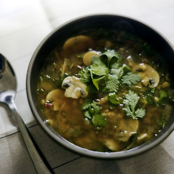Mushroom Ginger Soup with Hulled Barley recipe on Food52