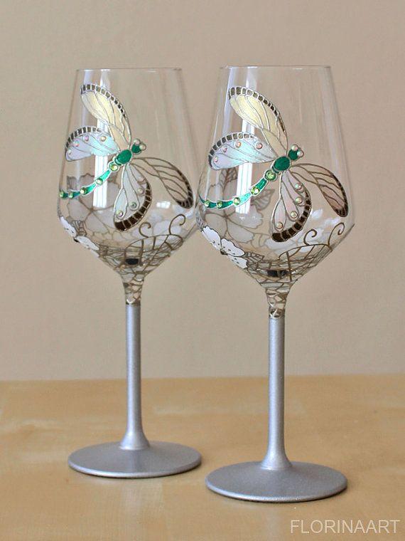 25th Anniversary Glasses Silver Anniversary Glasses от FLORINAART