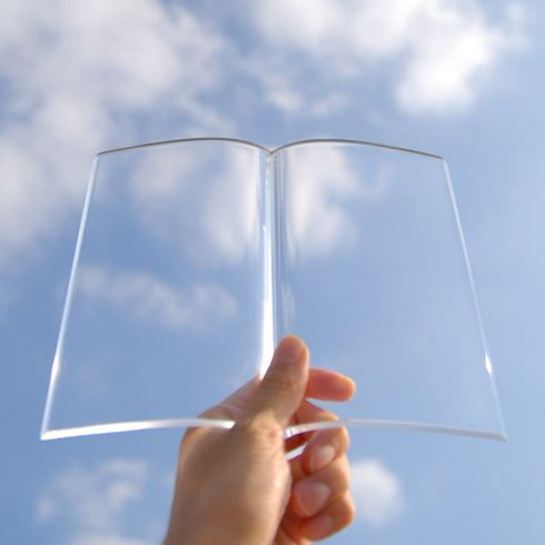 Book on Book, A Book-Shaped Clear Acrylic Book Weight