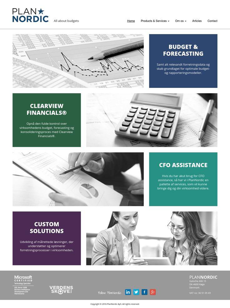 PlanNordic - Kommercielt website for konsulent virksomhed med flere undersider tilpasset kundens behov.