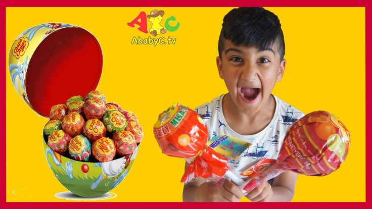 Giant Chupa Chups Lollipops | Candy Sweets Review - Kids videos for kids