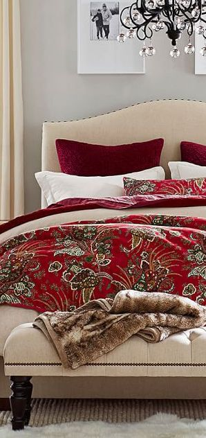 dark red and taupe bedding.  Get your custom design FREE of charge from DesignNashville.com. complimentary design service for bedding beginning with any of our fabrics