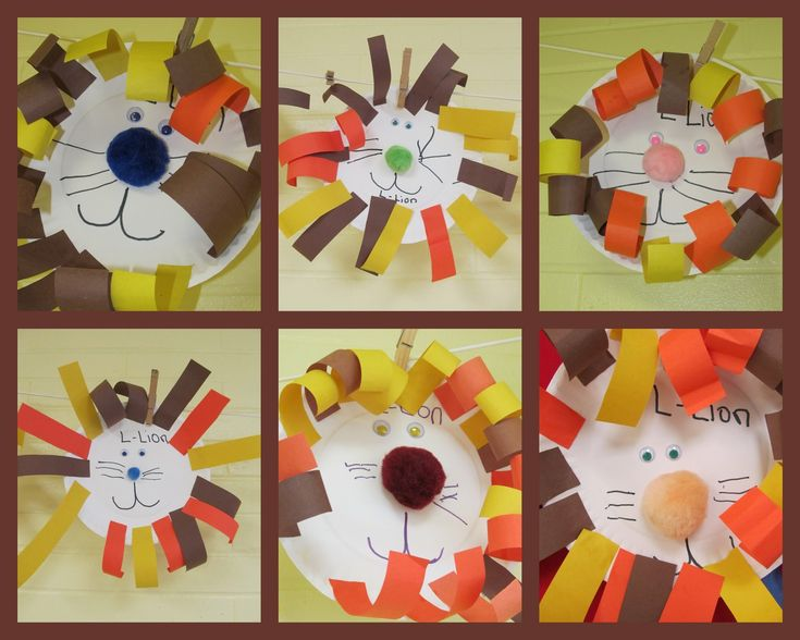 Zoo projects for preschool, Lion art project on paper plate, jungle animal art project for children