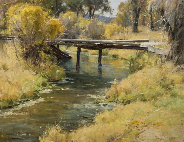 Clyde Aspevig, Country Bridge 28x36