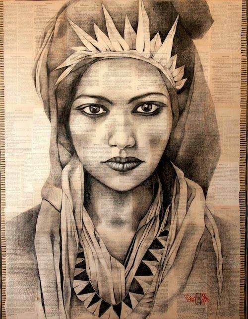 #stephanieledoux magnifique dessin d'une femme berbère #dessin #art