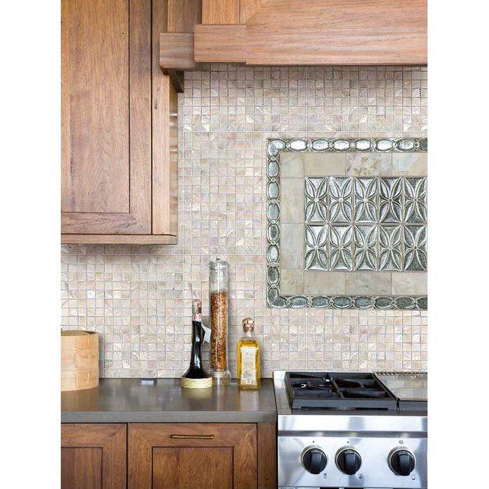 Cnktile Atlantic 1 X 1 Seashell Mosaic Tile In Cream Wayfair In 2020 Kitchen Backsplash Designs Mother Of Pearl Backsplash Pearl Backsplash