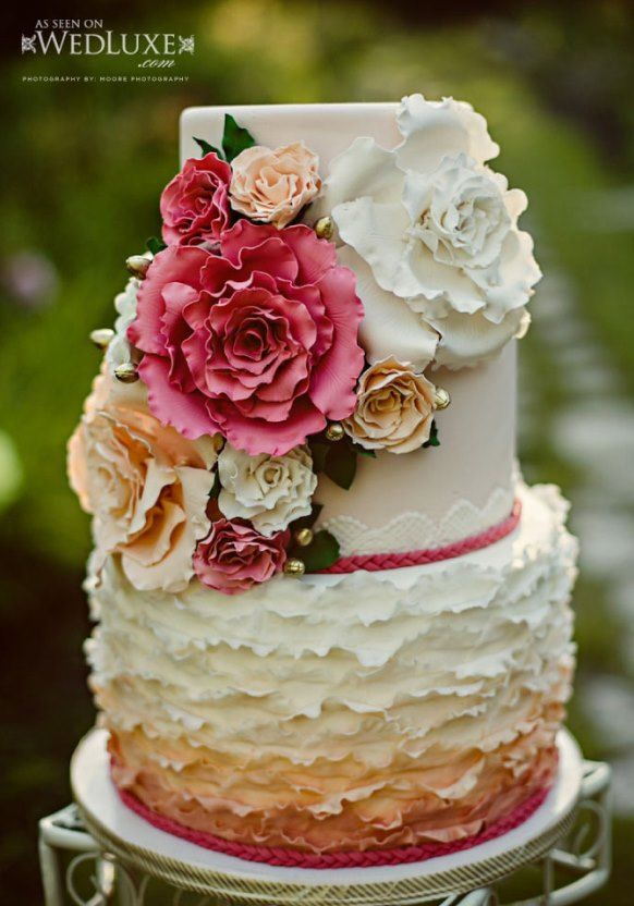 colorful wedding cakes pictures | 2013 fall weddings cakes Archives | Weddings Romantique