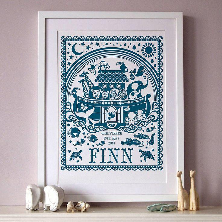 Personalised Noahs Ark Print
