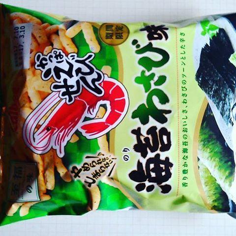 かっぱえびせん 海苔わさび味 #food
