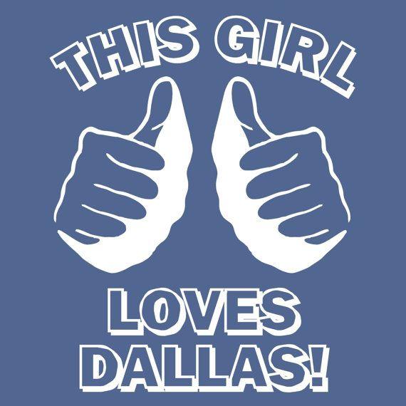 This GIRL LOVES DALLAS tshirt baseball texas navy t shirt