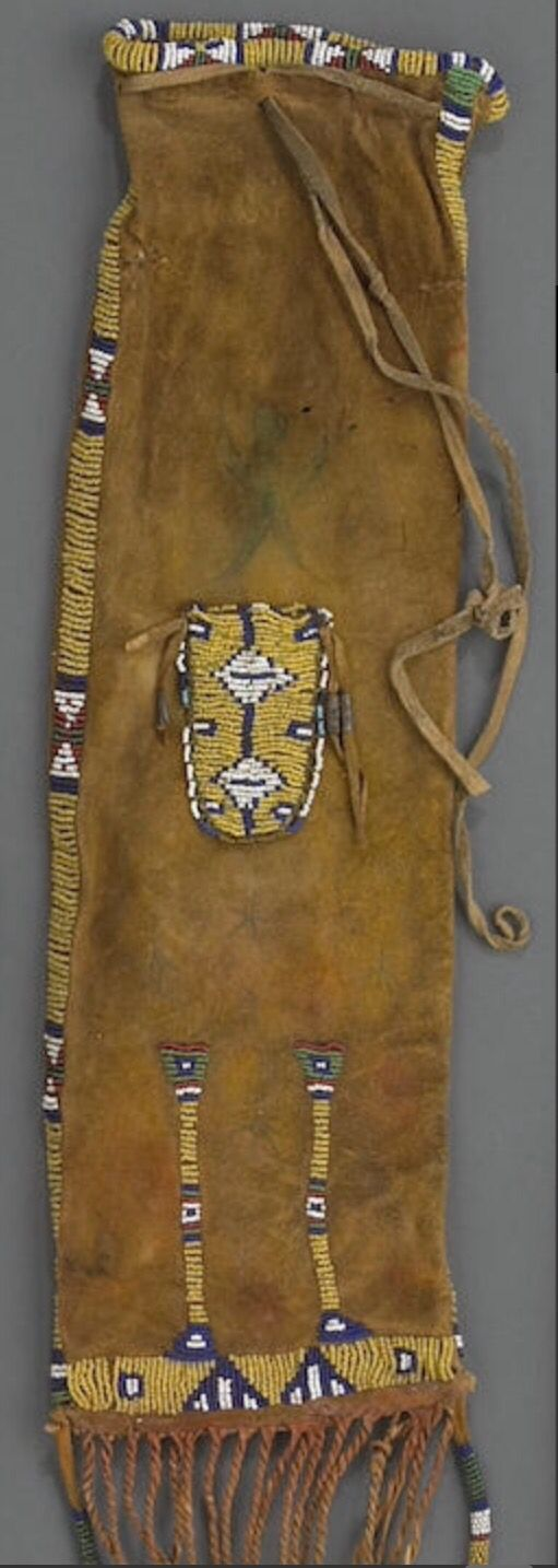 Сумка для табака, Сиу. Из Portland Art Museum Портленд, Орегон продана в собственность Museum Acquisition Fund. Б. Bonhams, декабрь 2010.